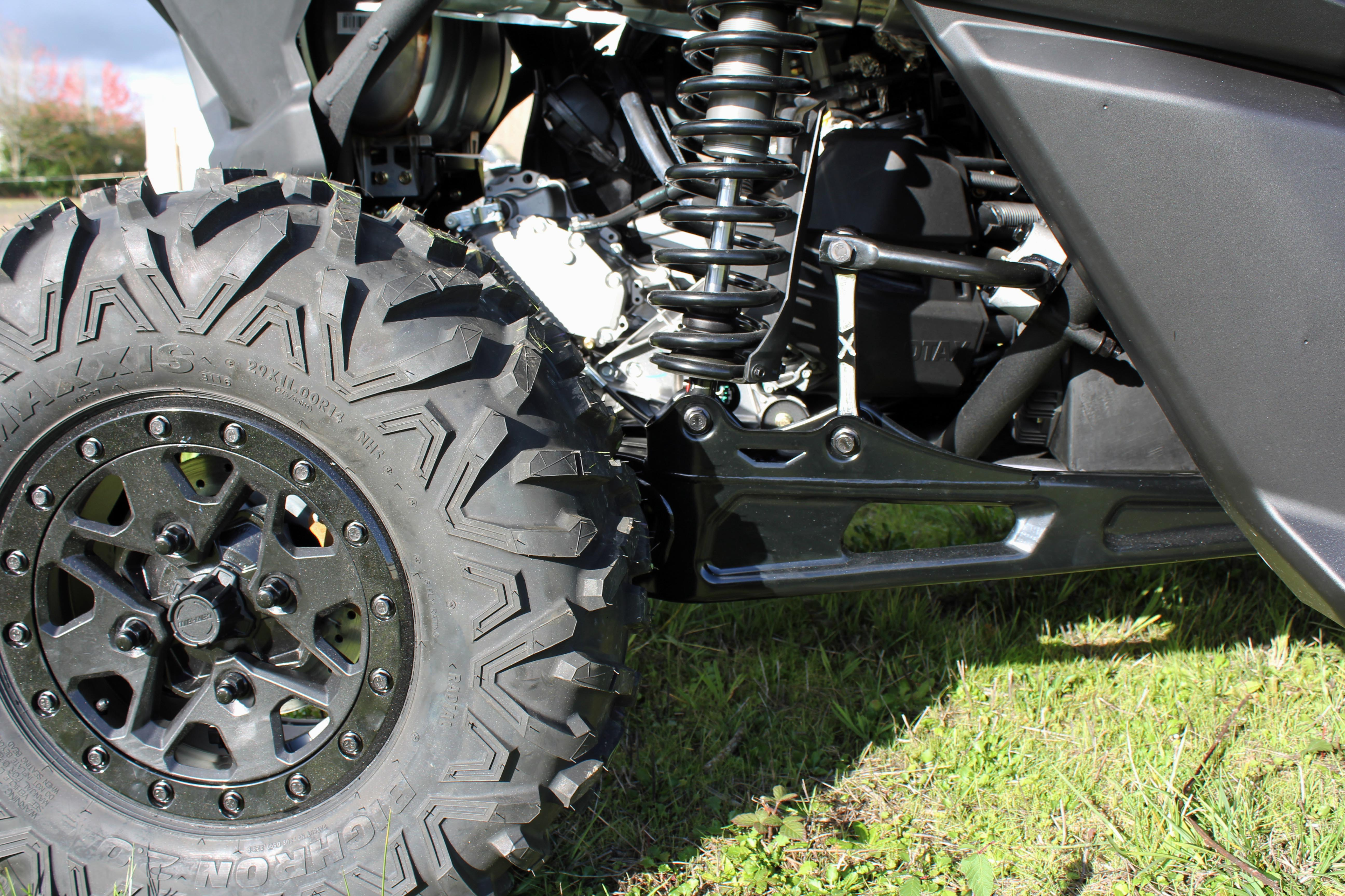 Black Billet Aluminum Rear Sway Bar End Links 2018 Can-Am Maverick X3 2 /& 4 Seat