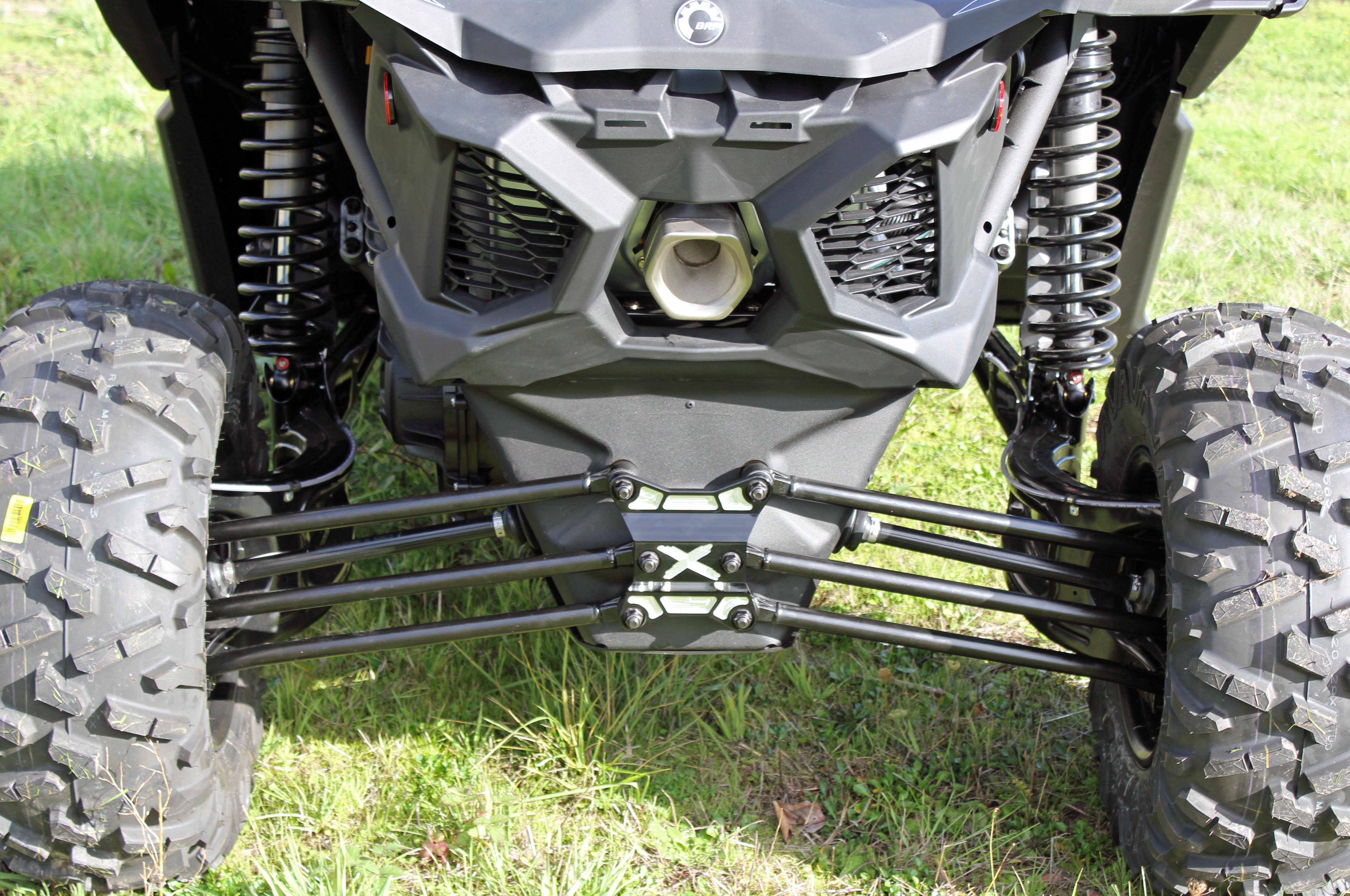 CA-RDP-X3-TOW Black /& Machined Rear Diff Plate w// Tow Ring Maverick X3 ModQuad